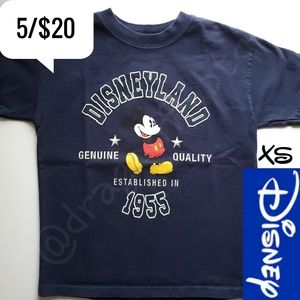 5/$20 Mickey Mouse Disneyland Boys Shirt